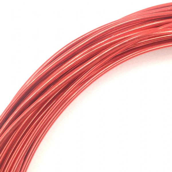 Aluminium wire - 10 metre coil - thickness 1mm - colour red